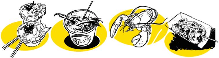 food illustration westjet magazine